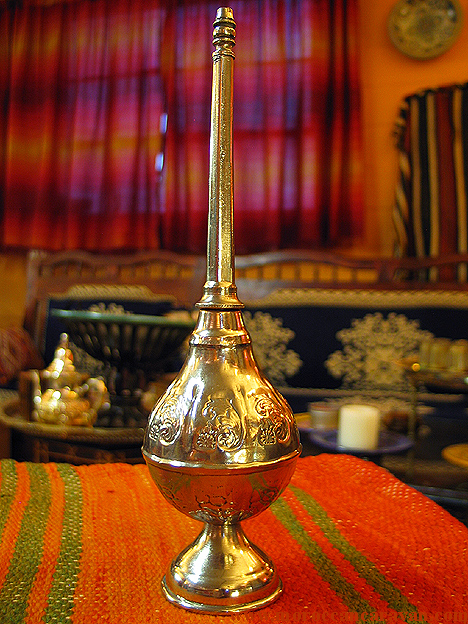Moroccan Authentic Silver Rose water dispenser