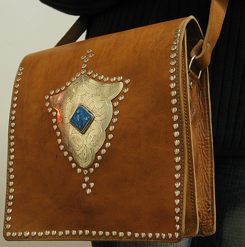 Moroccan Leather purse ID #1251