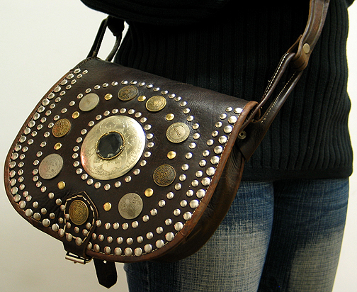 Moroccan Leather purse ID #1258