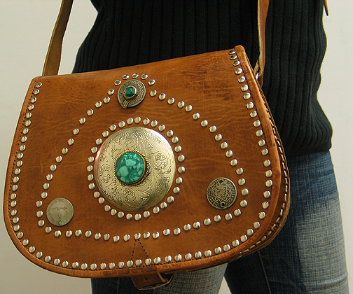 Moroccan Leather purse ID #1260