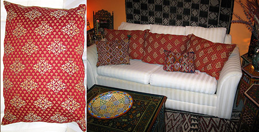 Moroccan Moroccan Tapestry pillow #156