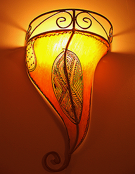 Moroccan Henna Painted Sconce FREE S/H !