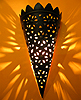 Moroccan punched metal sconce $10 OFF!!