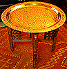 30 1/2 Brass & Wood Table