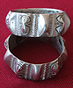 Tribal Silver bracelet set